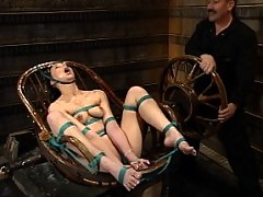 Terrific newbie Delilah Strong takes WaterBondage like a pro