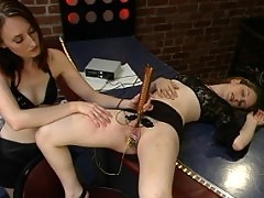 Aly is introduced to electricity, bondage and many orgasms.