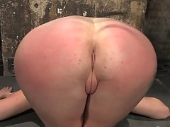 Adrianna Nicole punished and fucked by two slave trainers