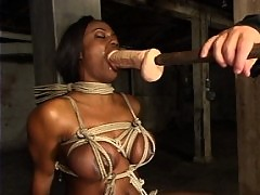 Tall and stunning, model Jada Fire is forced to squirt