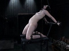 Alexa Von Tess trapped in hellish latex bondage cocoon.