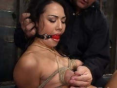 Lielani's nipples stretched and pinched until she lactates
