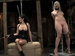 Lorelei Lee is put in predicament bondage device