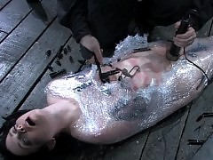 Slut Sybil Hawhtorne humiliated, bound and punished hard.