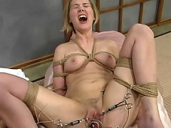 Audrey fucks Star with her electric strap on cock!